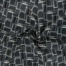 Satin viscose fabric - dark grey Grafika x 10cm