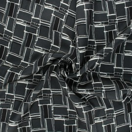Tissu viscose satin Grafika - gris foncé x 10cm