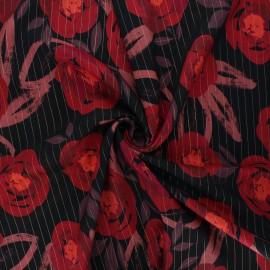 Lurex viscose fabric - black Tatiana x 10cm