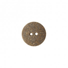 Cork and latex button - brown