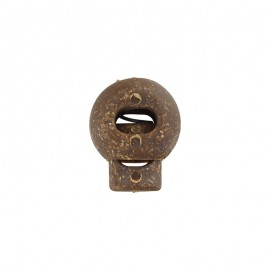 17 mm round cork and latex cord lock stopper - brown