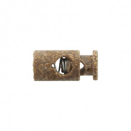 25 mm cork and latex cord lock stopper - brown
