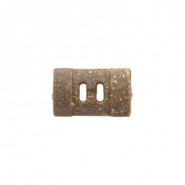 Bouton bûchette liège véritable et latex 19 mm - marron