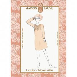 Dress/blouse Sewing Pattern Maison Fauve - Atlas