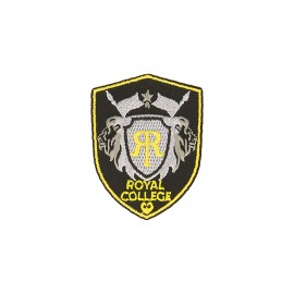 Blason iron-on patch - black/grey Royal college