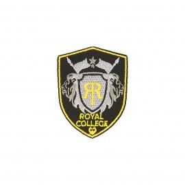 Thermocollant blason Royal college - noir/gris