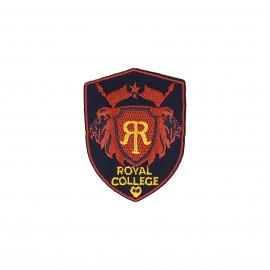 Blason iron-on patch - black/red Royal college