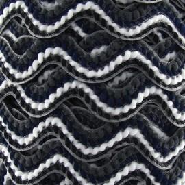 Serpentine fantaisie 20mm noir et blanc