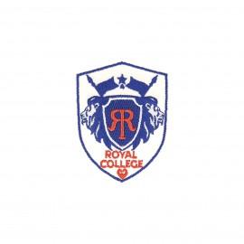 Blason iron-on patch - white Royal college
