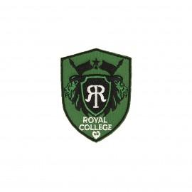 Blason iron-on patch - green Royal college