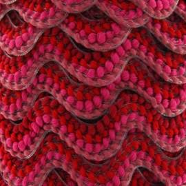 Serpentine fantaisie 20mm rouge et fuchsia