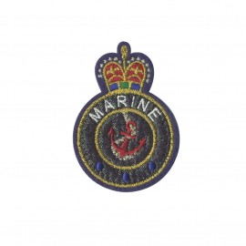 Blason iron-on patch - Marine Royal