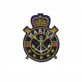 Blason iron-on patch - Marine royale