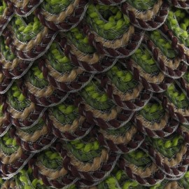Fantasy serpentine 20 mm - green/brown