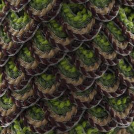 Serpentine fantaisie 20mm vert et marron
