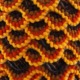 Serpentine fantaisie 20mm jaune et marron