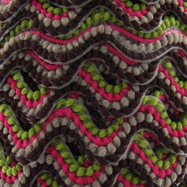 Fantasy serpentine 20 mm - green/fuchsia/brown