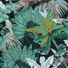 Tissu See you at six viscose Jungle - vert x 10cm