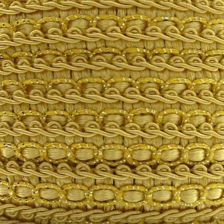 Dress braid trimming ribbon 13 mm - yellow earth