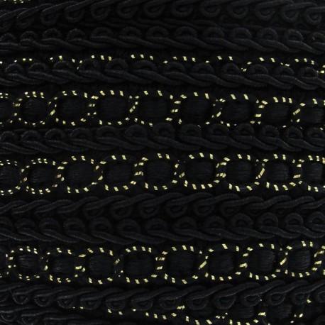 Dress braid trimming ribbon 13 mm - black