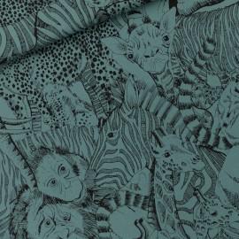 Tissu See you at six sweat léger Wild animals - bleu de l'Atlantique nord x 10cm