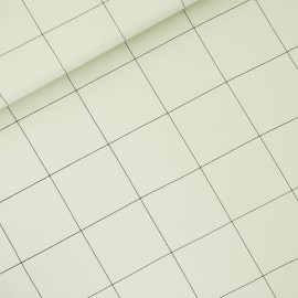 See you at six french terry fabric - fog green Thin grid XL x 10 cm