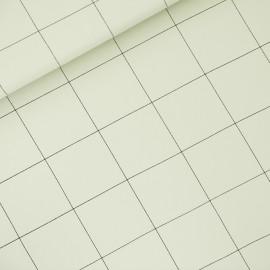 Tissu See you at six sweat léger Thin grid XL - vert brouillard x 10cm