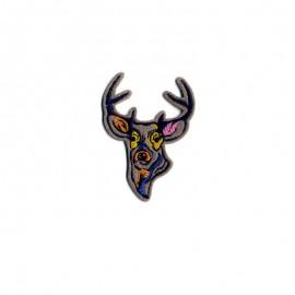 Ecusson thermocollant Animaux peints - Cerf