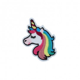 Thermocollant brodé - Rainbow licorne