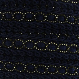 Dress braid trimming ribbon 13 mm - midnight blue