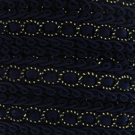 Dress braid trimming ribbon 13 mm - midnight blue