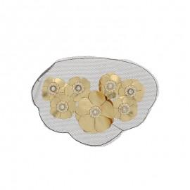 Sew-on applique - gold Flora