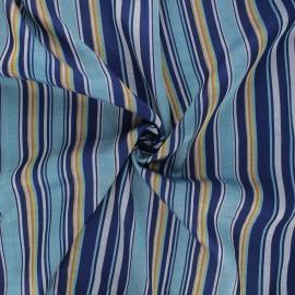 Tissu rayonne lurex Graffi - bleu x 10cm