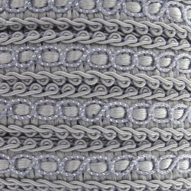 Dress braid trimming ribbon 13 mm - light grey