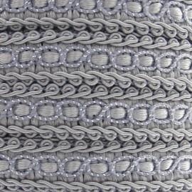 Galon robe 13mm gris clair