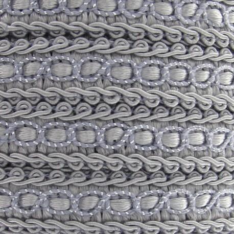 Dress braid trimming ribbon 13 mm - light grey