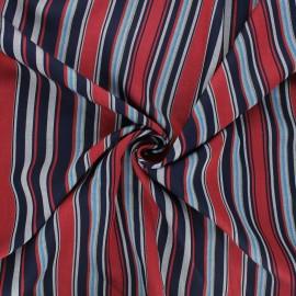 Lurex rayon fabric - red Graffi x 10cm