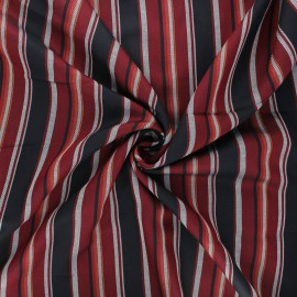Tissu rayonne lurex Graffi - bordeaux x 10cm