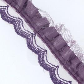 Ruban plissé dentelle colombin x 50cm