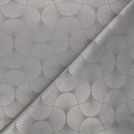 Tissu jacquard Freda - taupe x 10cm