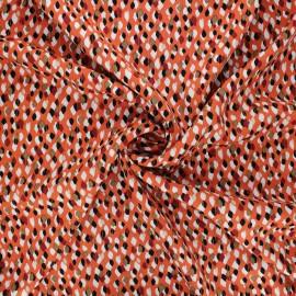 Lurex rayon fabric - coral Drop x 10cm