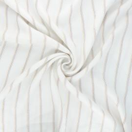 Tissu rayonne lurex Naxos - écru x 10cm