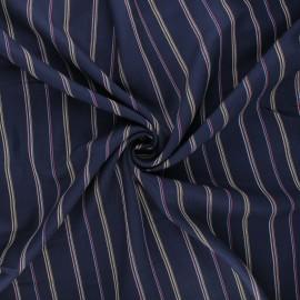 Tissu rayonne lurex Naxos - bleu marine x 10cm