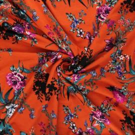 Tissu jersey viscose Sigma - orange x 10 cm