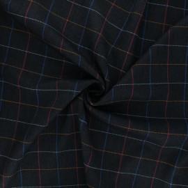 Polyviscose elastane fabric - night blue Hespel x 10cm