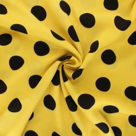 Viscose fabric - yellow Charly x 10cm