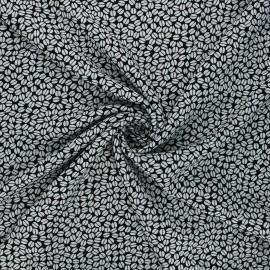 Viscose fabric - black Coffee bean x 10cm