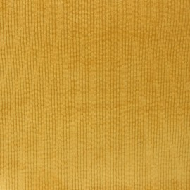Washed-out ribbed velvet fabric - ochre Cardiff x 10cm