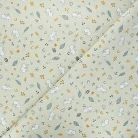 Tissu coton cretonne Lapinou - sable x 10cm