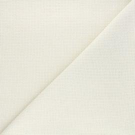 Tissu toile Aida à broder 4 pts - écru x10cm